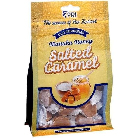 Salted Manuka Honey Caramels, honey snacks