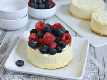 Low Carb Crustless Cheesecake Made Using an Air Fryer