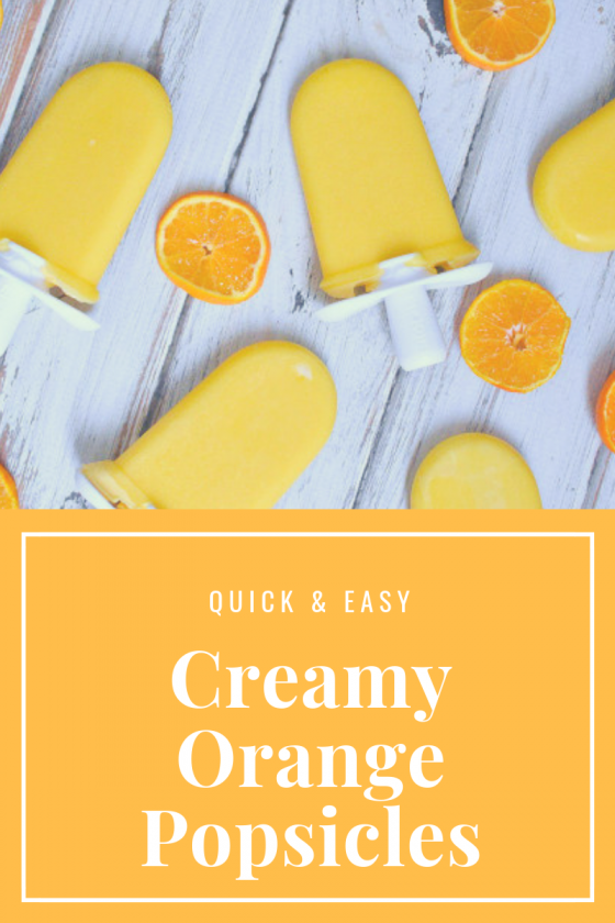Quick & Easy Creamy Orange Popsicle Recipe