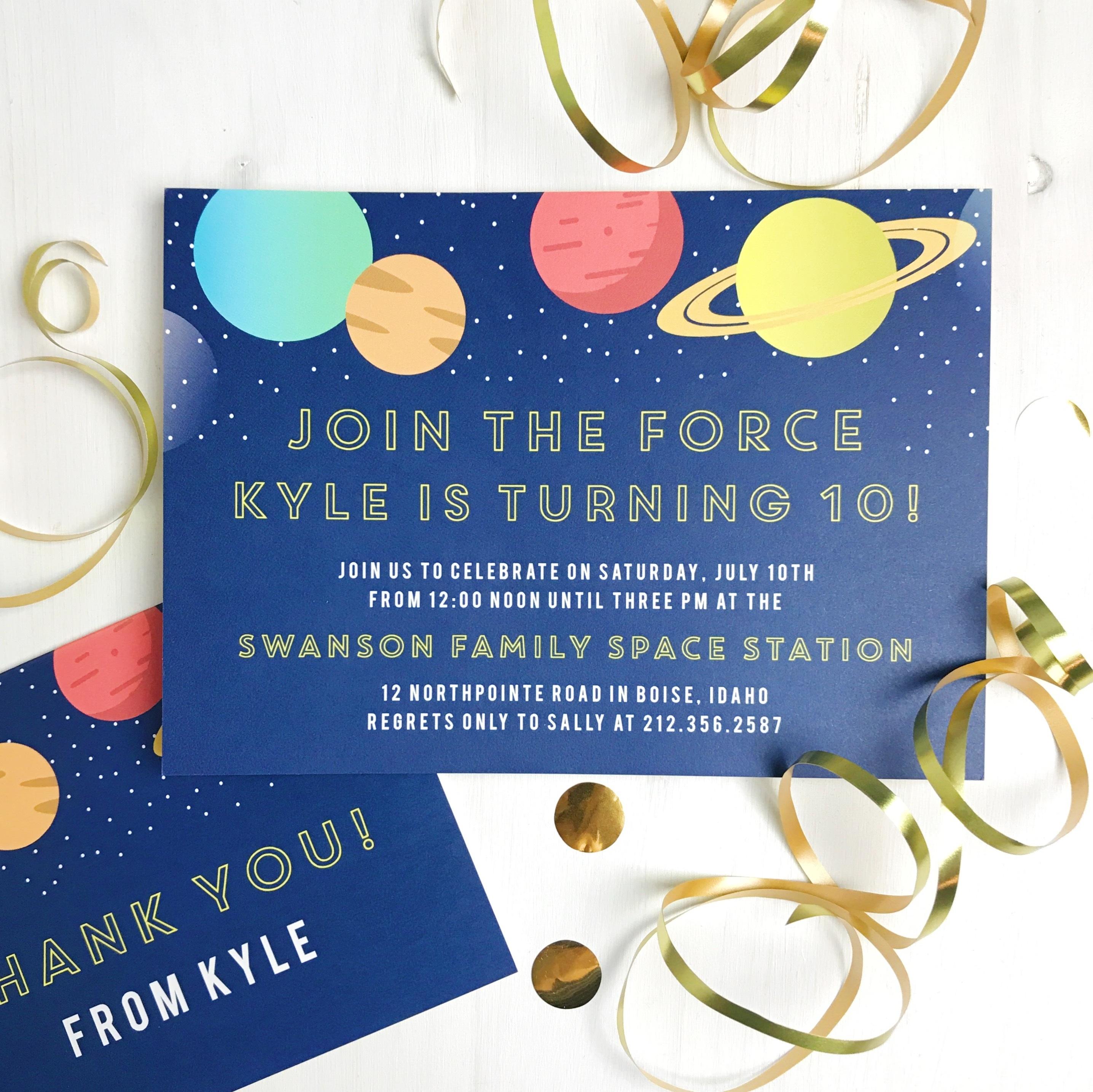 Basic Invite Birthday Invitations space