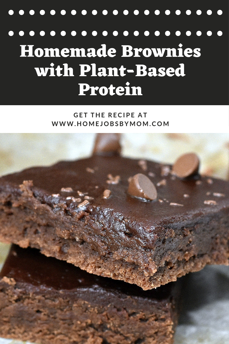 Homemade Brownies with Plant-Based Protein