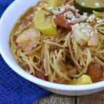 Fideo Soup with Chorizo and Shrimp
