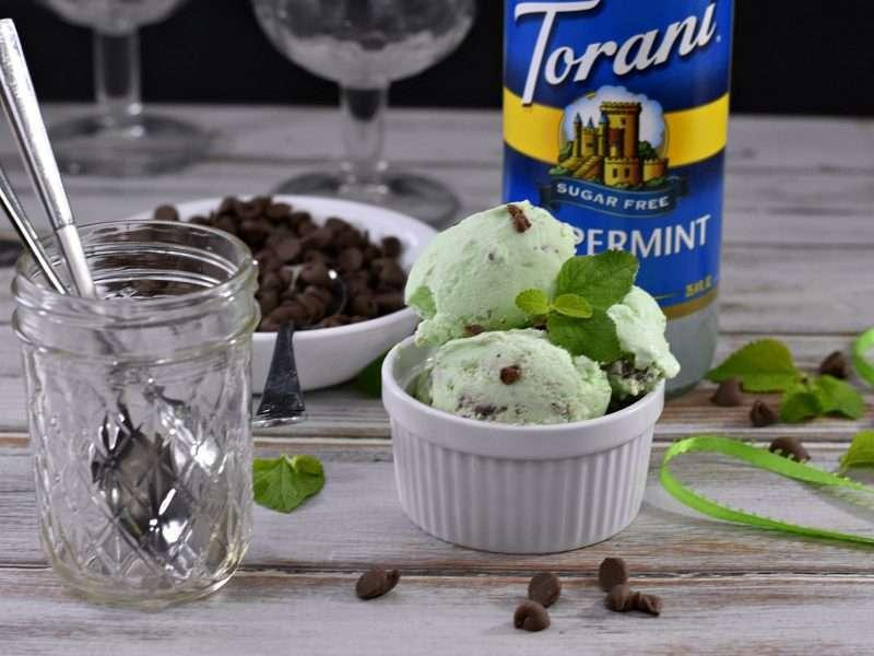 Keto Friendly Mint Chocolate Chip Frozen Custard #ToraniLovesKeto
