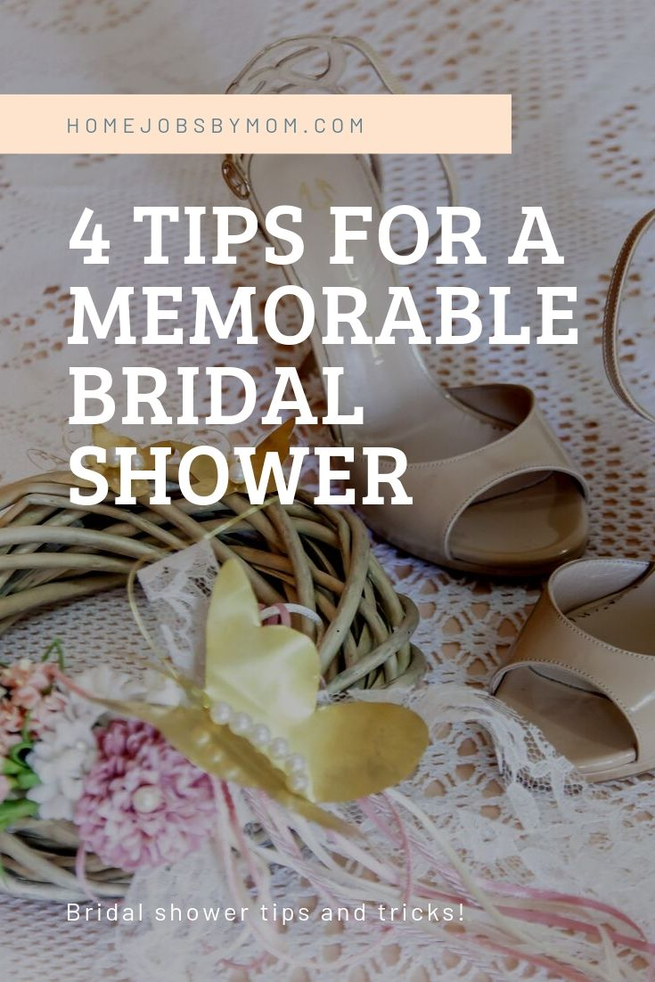4 Tips for a Memorable Bridal Shower