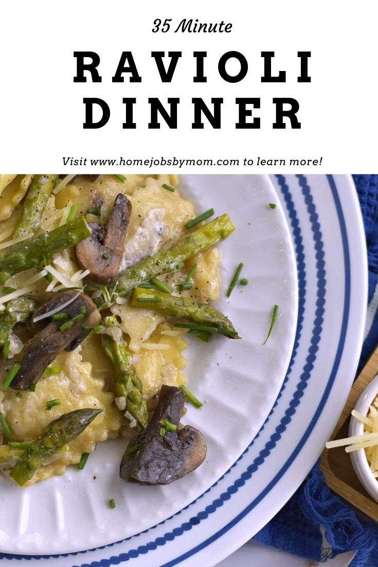 35 Minute Easy Ravioli Dinner Recipe