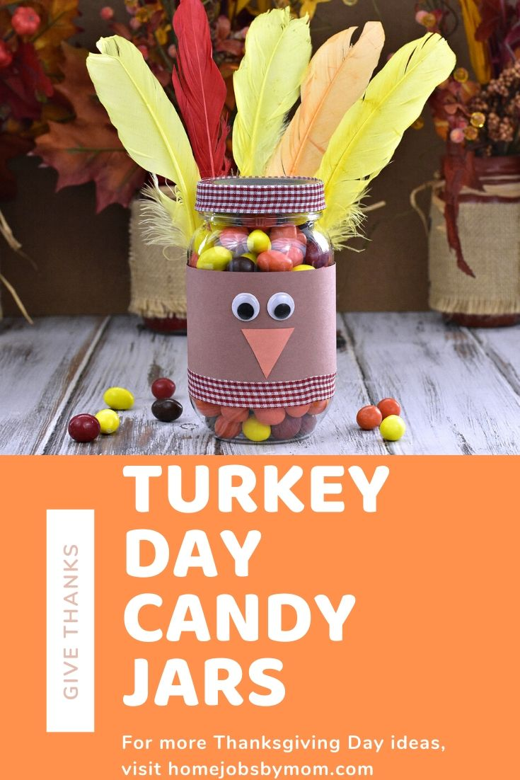 Give Thanks This Holiday Season With These Cute Turkey Day Candy Jars Funwithart