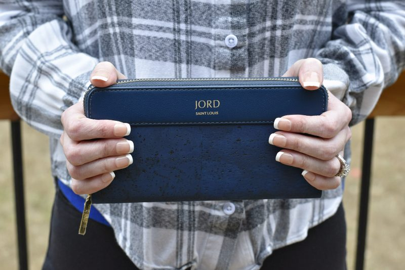 jord vegan leather wallet out front