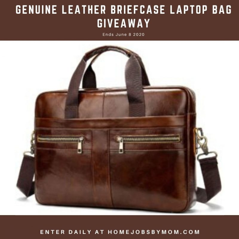 Genuine Leather Briefcase Laptop Bag