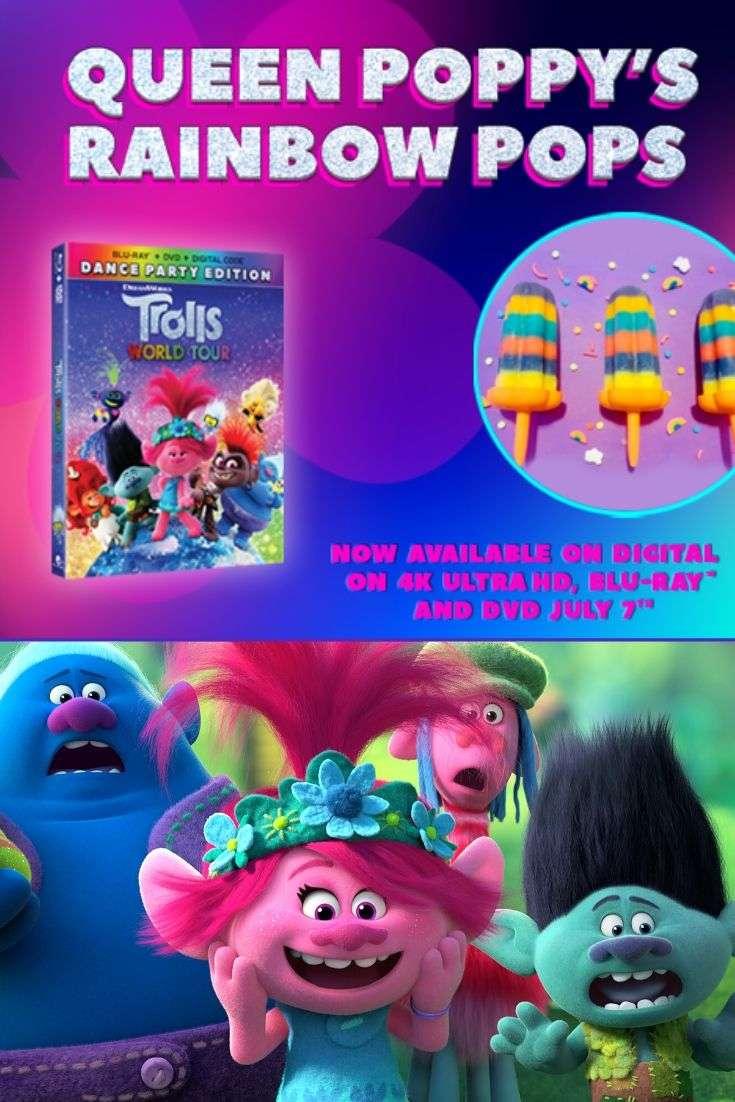 Trolls World Tour Rainbow Poppy-sicles