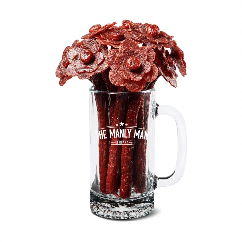 beef-jerky-flower-bouquet-beer-mug