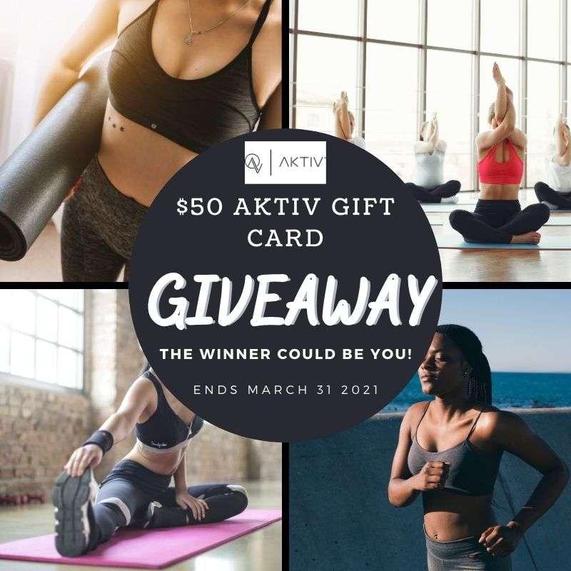 $50 Aktiv Gift Card giveaway