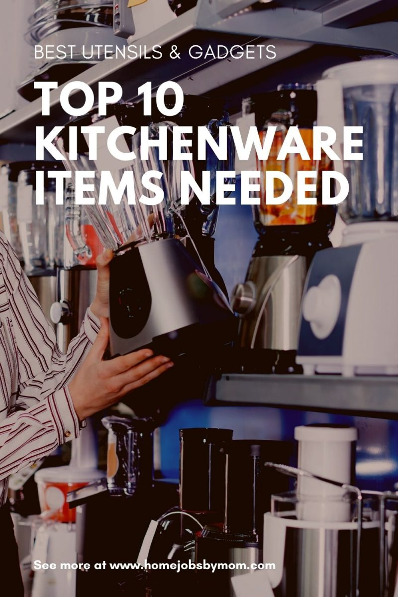 Top 10 Kitchenware Items Needed