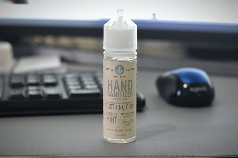 cbd hand sanitizer by auntie dolores