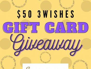 $50 3Wishes Gift Card Giveaway