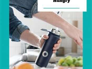 water bottle healthy kitchen sink